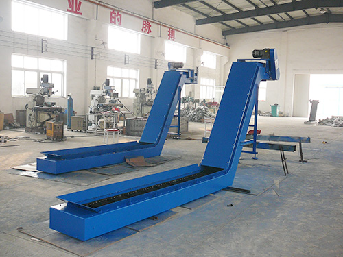 Steel Hinged Belt Chips Conveyor